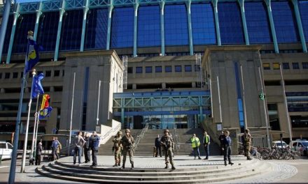 Brussels Terror Stabbing Two Police Injured Suspect Shot