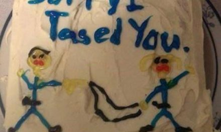 "Cop Sends Woman Fake ""Sorry I Tased You"" Cake Picture After Tasing Her"