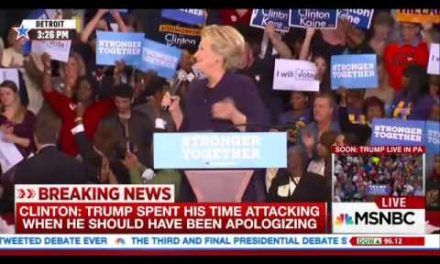 """Bill Clinton Is A Rapist"" Protester Makes Hillary Lose Her Mind"