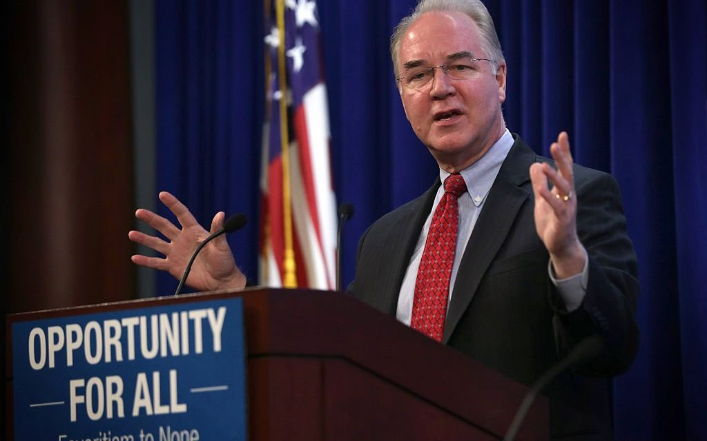 BREAKING: Tom Price Named As Health Secretary in Trump's Cabinet