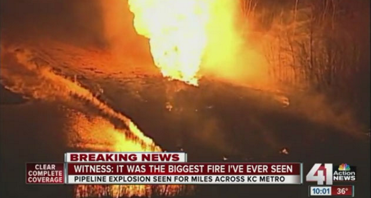 Mainstream Media is Silent After Major Pipeline Explosion North of Kansas City