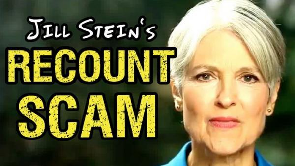 "Jill Stein Spends $1 Million Of Recount Donations On ""Staff, Admin and Consultants"""