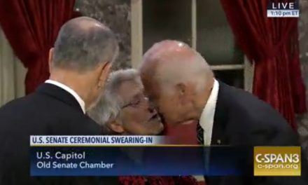 Biden Goes Viral After Kissing Chuck Grassley's Wife on the Lips