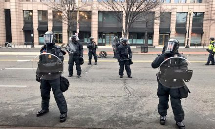 Riot Police Shoot Flash Bang Grenades At Media On Live Video – Police Chief Blames Protesters