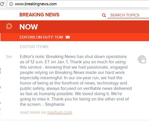 NBC News Shuts Down Breaking News