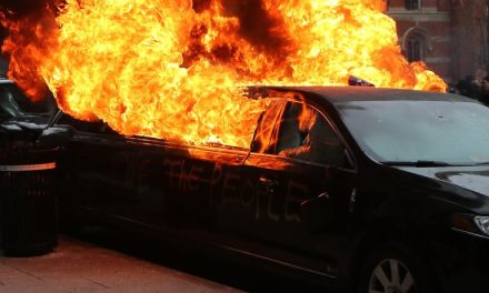 Oops! Anti-Trump Protesters Set Muslim Immigrant's Limo On Fire