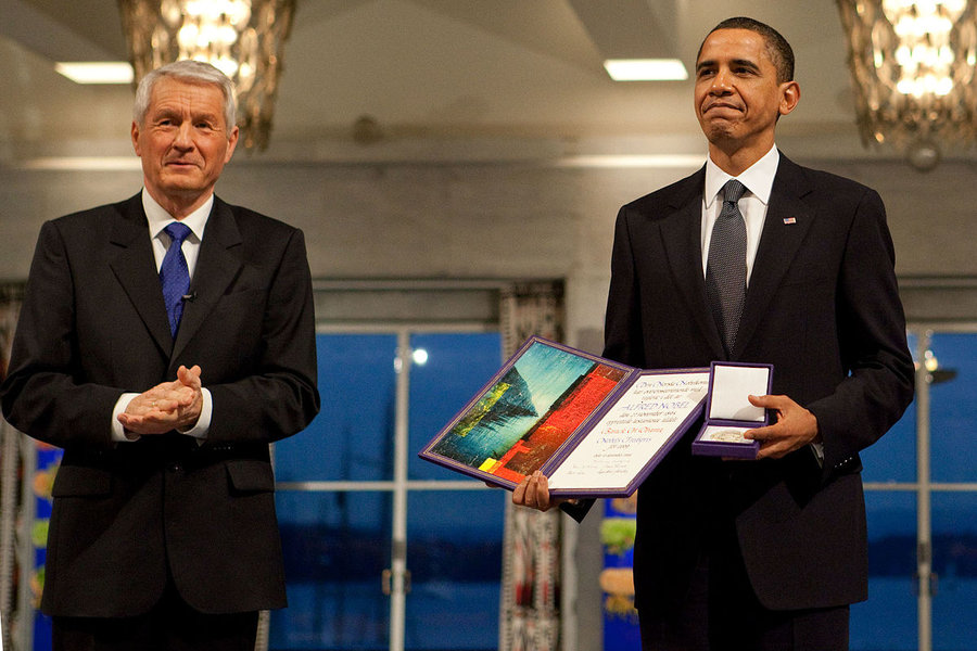 A Nobel Peace Prize Winner Dropped 26,000 Bombs in 2016