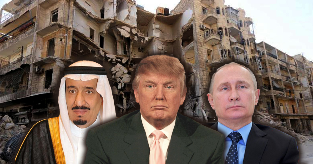 Trump, Saudi King Agree On Syrian 'Safe Zones' Despite Warning From Russia
