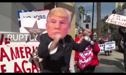 Fists Fly At Boycott The Oscars As Trump Protesters And Supporters Clash