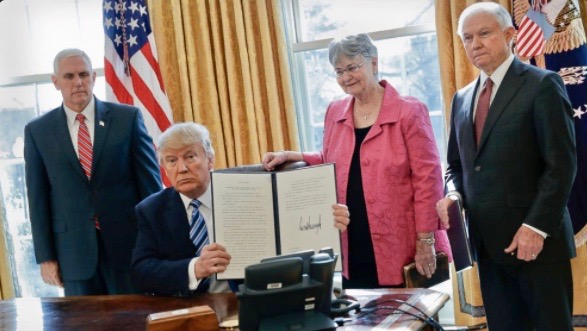 With Jeff Sessions In Office, Trump Signs Executive Orders To 'Restore Safety' In America