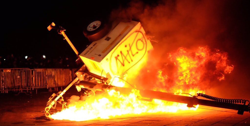 Image result for riots at berkeley