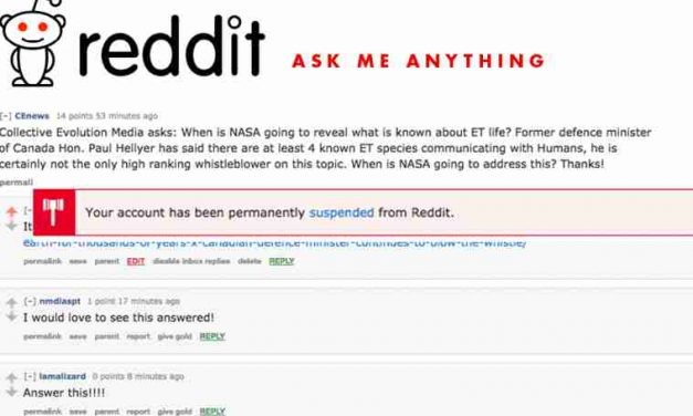 Reddit Permanently Suspends Collective-Evolution For Asking NASA A Question On ET Life