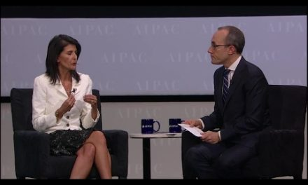 U.S. Ambassador Nikki Haley At AIPAC: Palestinian Won't Get Top UN Post