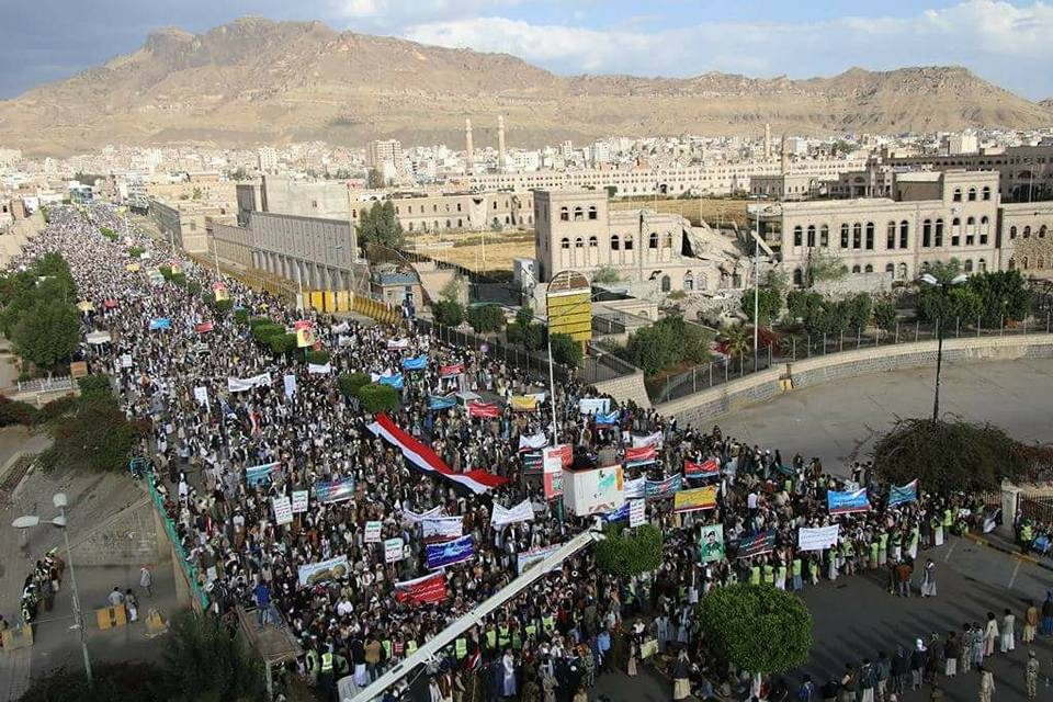 Yemenis Protest 2 Years Of Saudi Aggression As Famine Looms