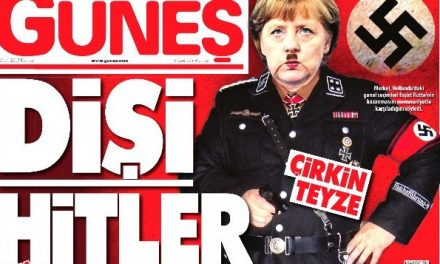 Turkish Daily Cover Displays Angela Merkel As Hitler