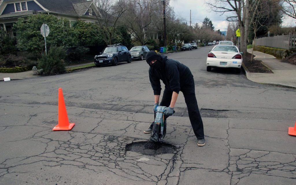 You'll Never Guess Who Is Fixing Potholes In Portland