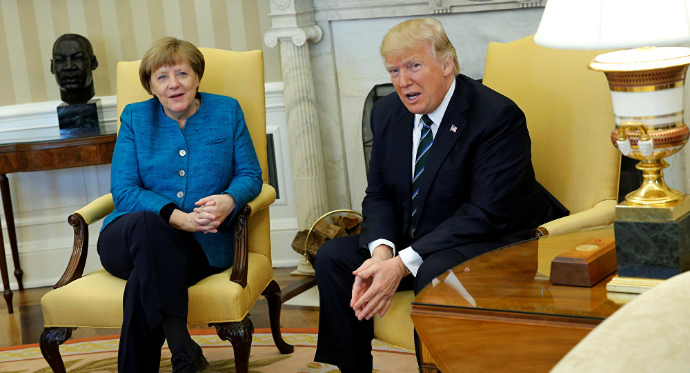 'We Have Something in Common': Trump Jokes With Merkel About Obama Wiretapping (VIDEO)
