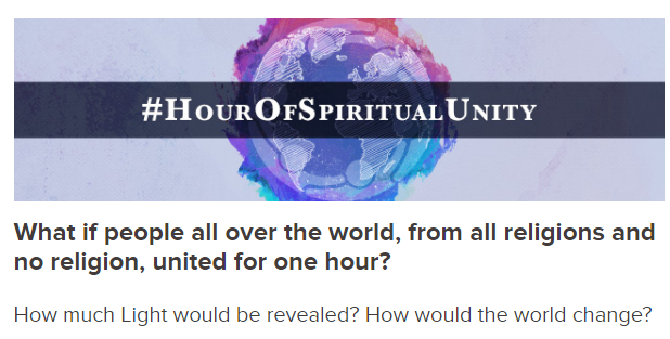 The Easiest Way To Change The World? #HourOfSpiritualUnity