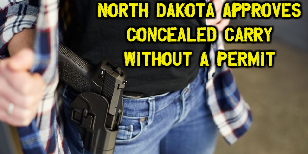 North Dakota Declares Itself Gun Friendly – Approves Concealed Carry Without A Permit!