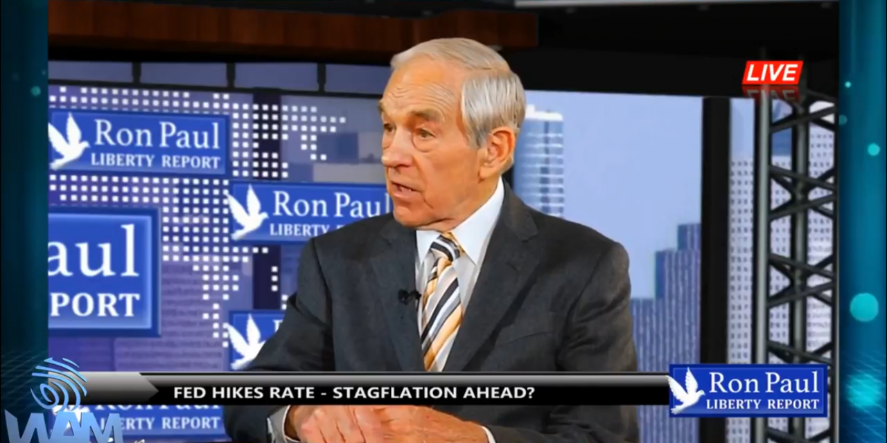 Ron Paul Predicts Inflationary Depression, Stagflation and Dollar Crash