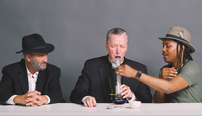 Watch What Happens When A Priest, A Rabbi, And An Atheist Smoke Weed (Video)
