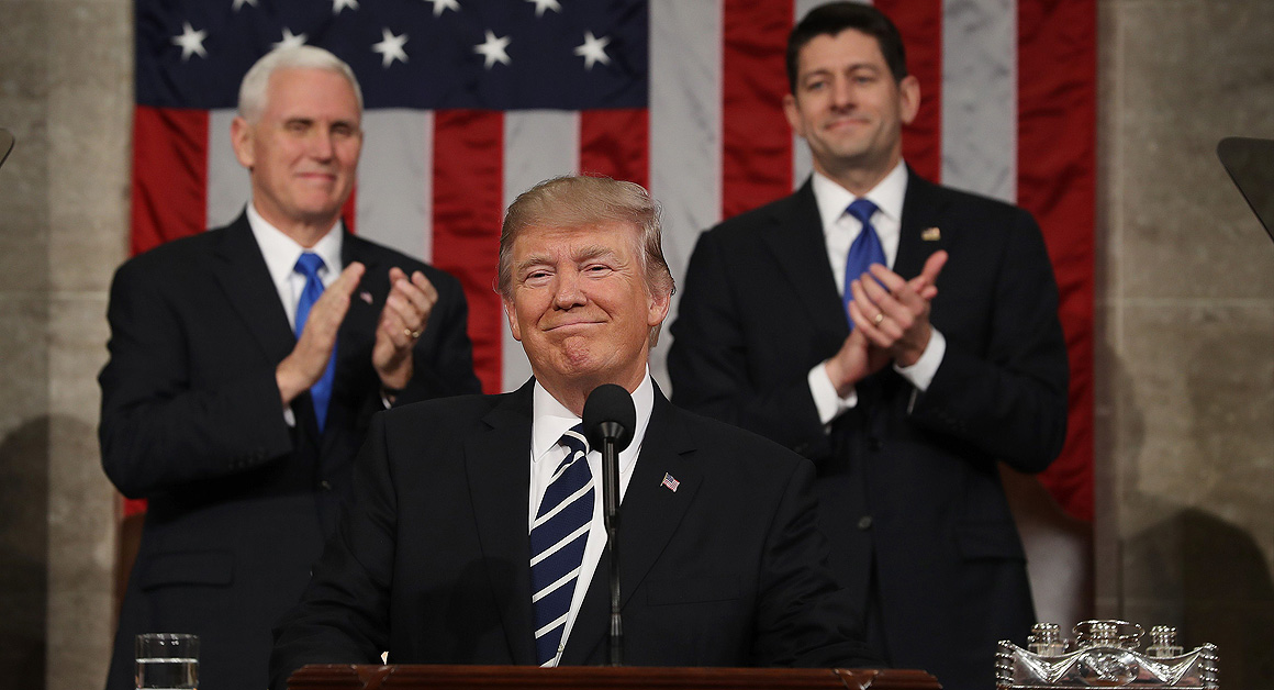 The U.S. Warms Up To Trump: 3 In 4 Americans Approve Of Trump Address
