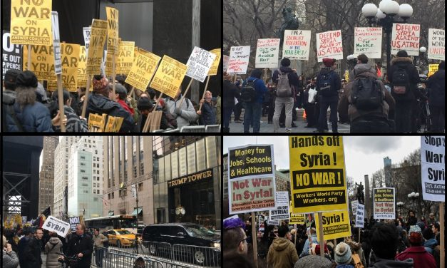 WATCH: Protests Emerge Across The U.S. Against Syria Airstrikes