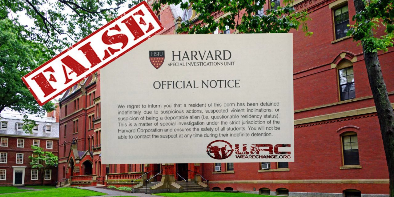 Harvard: False Deportation Notices Spark Outrage Among Students, Prompting Apologies From Two Minority Groups