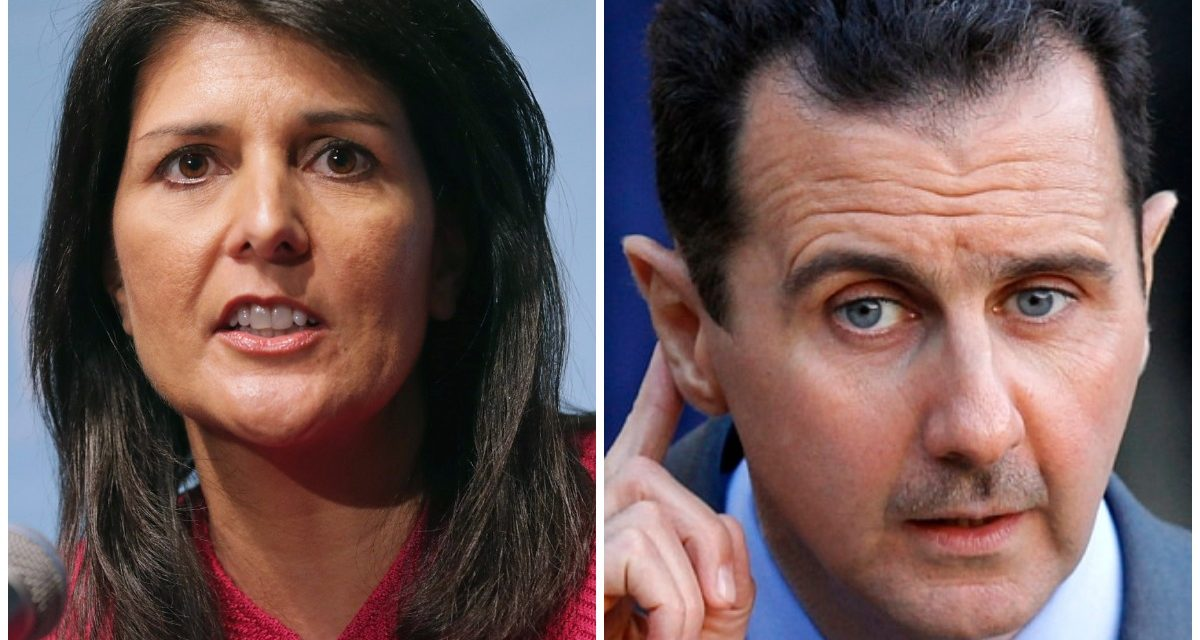 U.S. Ambassador To The UN Nikki Haley: Syrians Don't Want Assad As Leader