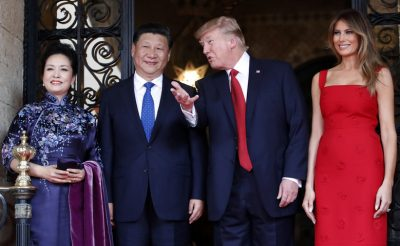 Trump welcomes Chinese President Xi Jinping.