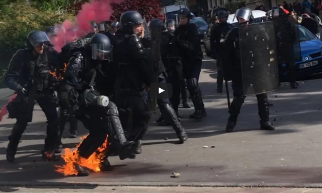 VIDEO: LUKE RUDKOWSKI- LIVE AT MAY DAY PROTEST IN PARIS