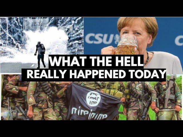 VIDEO: Angela Merkel Gets Drunk Slams U.S / Trump, Japan vs North Korea?