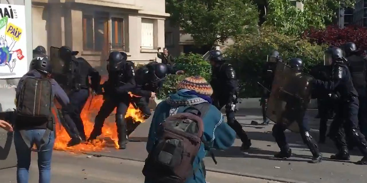 VIDEO: MAY DAY PARIS FRANCE, MOST INSANE PROTEST FOOTAGE