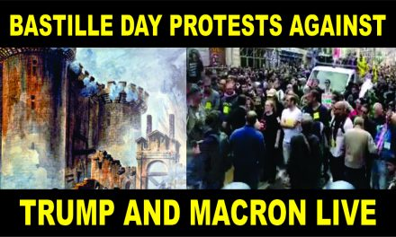 Paris Bastille Day Protests Against Trump and Macron