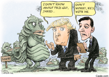 Donald Trump and Jared discuss the Swamp Creature