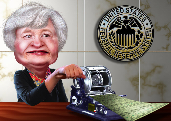 Janet Yellen Money Printer Extraordinaire