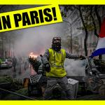 In Paris France On The Ground With The Yellow Vests