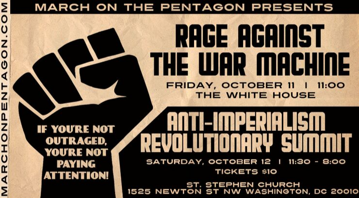 We Invite You to Rage Against the War Machine on October 11