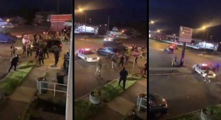 Horrific Scene as Car Plows Into Dozens of Police Amid Rioting in Buffalo, New York
