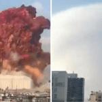 Terrifying Mystery Blast Shockwave and Fireball Filmed Over Beirut