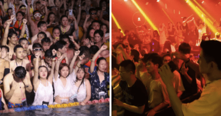 "China ""Parties Like It Is 2019"" At Pool Parties, Nightcubs & Bars From Wuhan To Beijing"