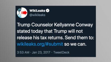 Reminder: WikiLeaks Has Always Been Open to Publishing Leaks on Trump