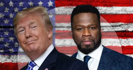 50 Cent Tells His Fans to Vote for Trump