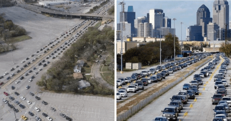 """""""Largest Distribution Ever"""": Thousands of Cars Lined Up at Texas Food Bank"""