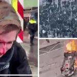 Dutch Youth Torch COVID-Testing Facility in Violent Curfew Backlash