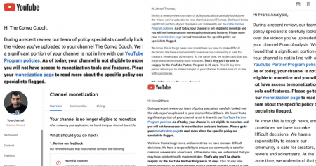 YouTube Financially Deplatforms Swath of Independent Media Accounts