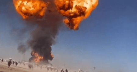 """""""Powerful Enough to Be Spotted From Space"""": Fuel Tanker Convoy Explodes at Afghan-Iran Border"""