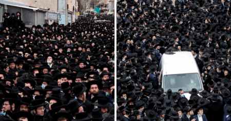 Thousands of Maskless Orthodox Jews Ignore Israeli Lockdown to Attend Funerals
