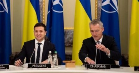 "Ukraine's Zelensky: ""NATO Membership is the Only Way to End War in Donbass"""